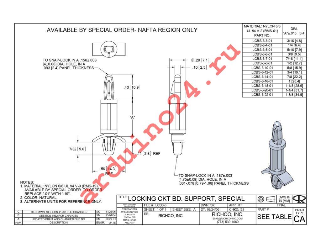 LCBS-3-18-01 datasheet