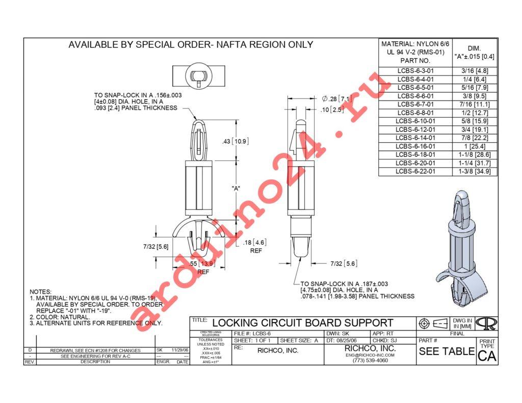 LCBS-6-18-01 datasheet
