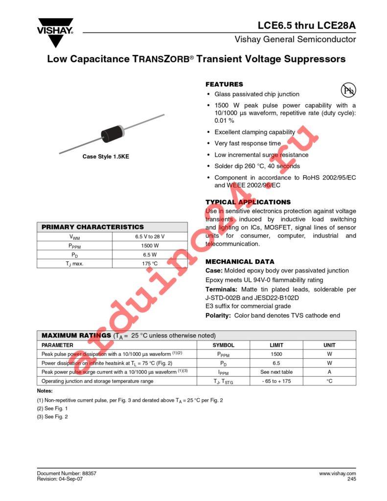 LCE24A-E3/54 datasheet
