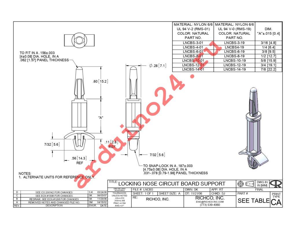 LNCBS-10-19 datasheet