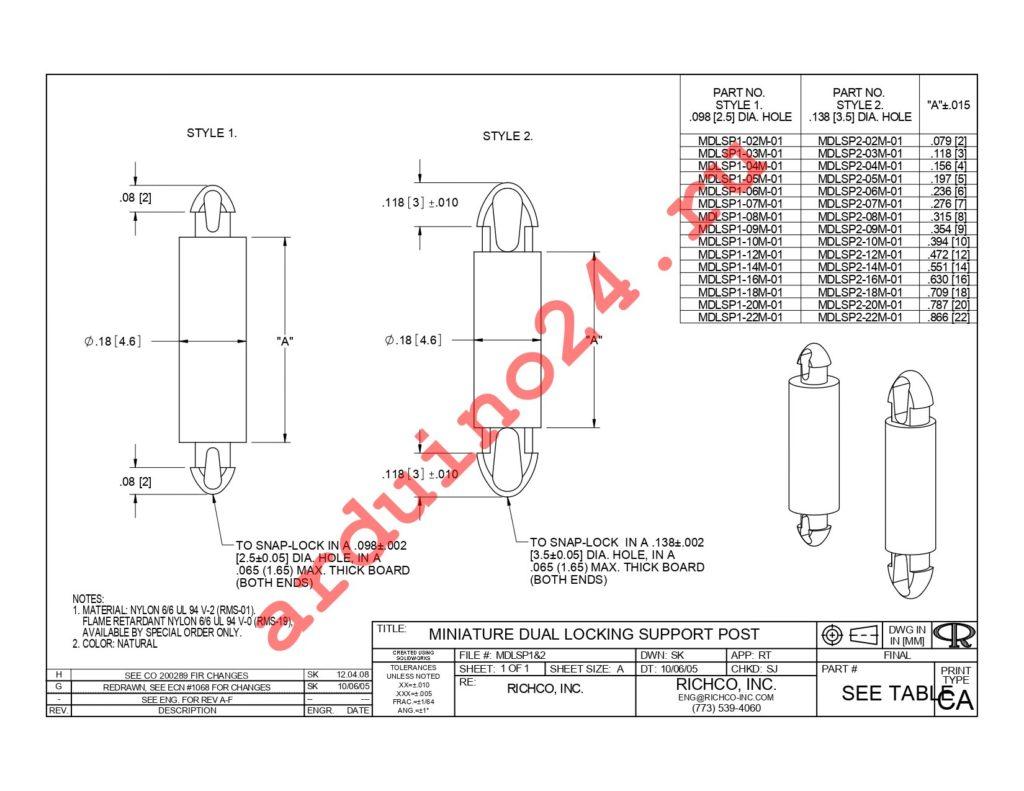 MDLSP1-22M-01 datasheet