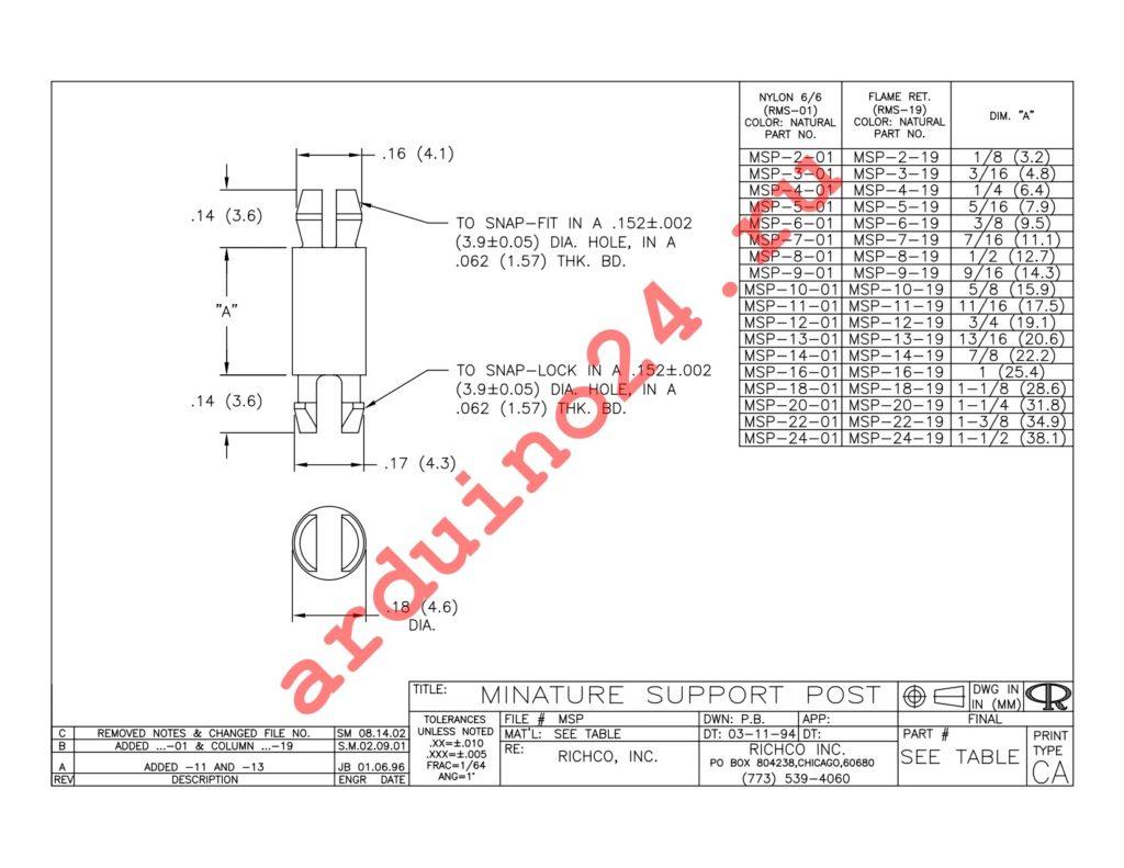 MSP-6-19 datasheet