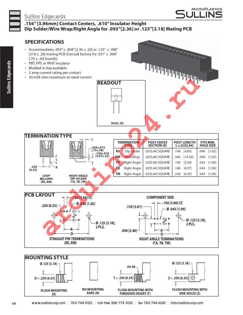 RCM12DTBT-S273 datasheet