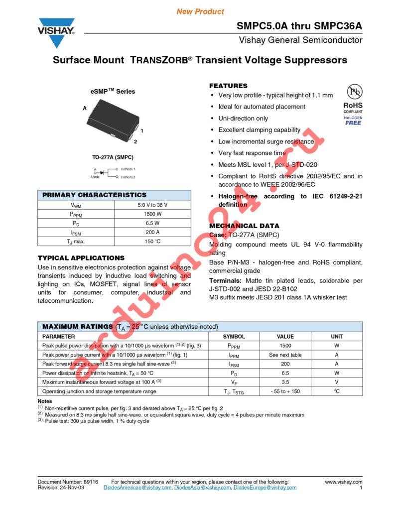 SMPC12A-M3/86A datasheet