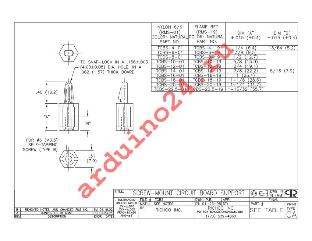 TCBS-16-01 datasheet