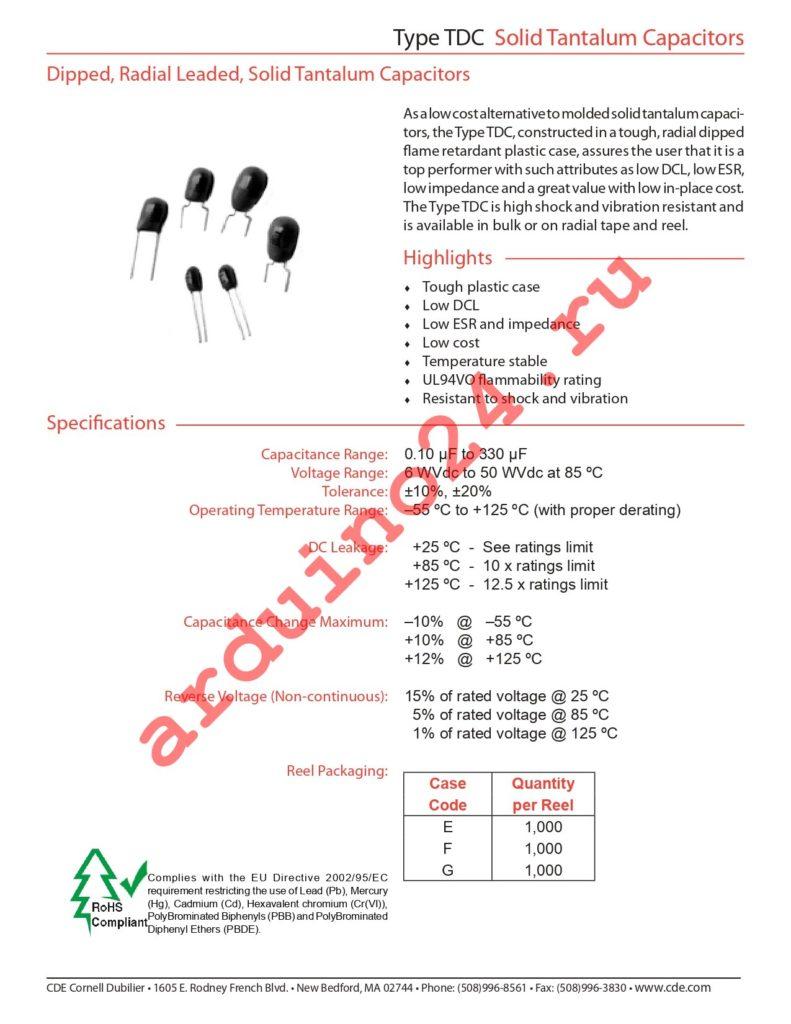 TDC334K050NSE-F datasheet