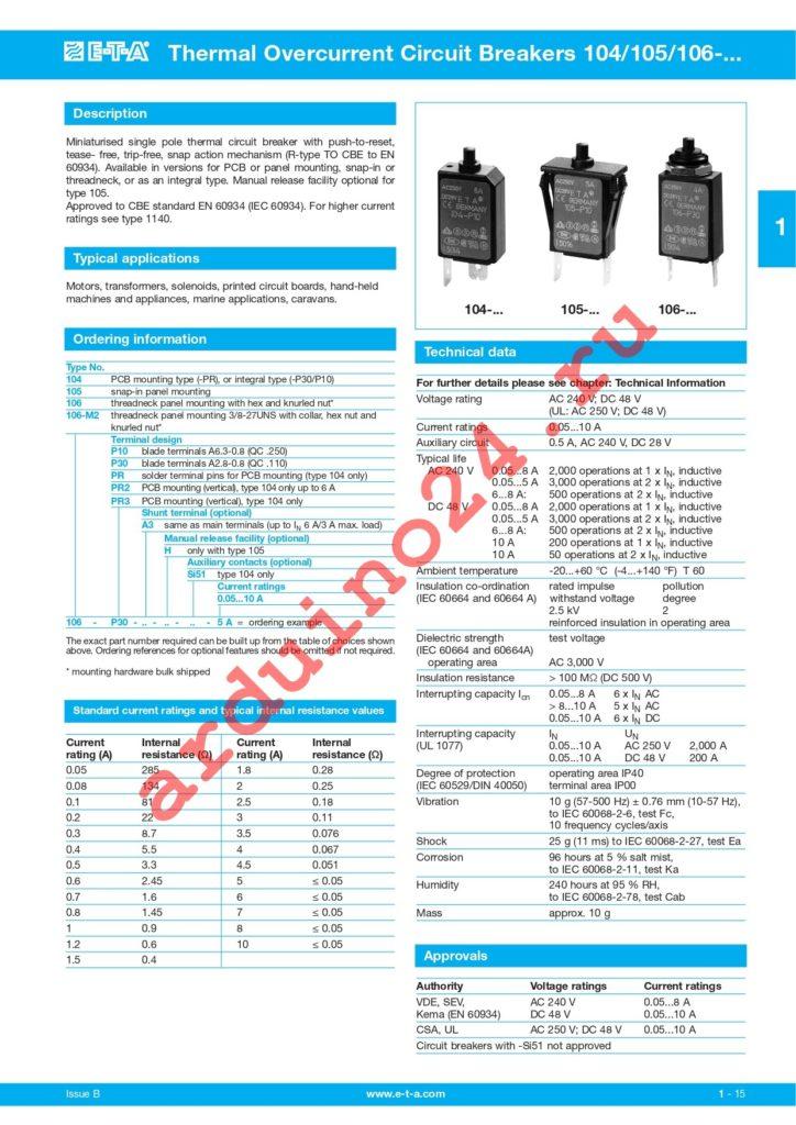 106-M2-P10-1.2A datasheet