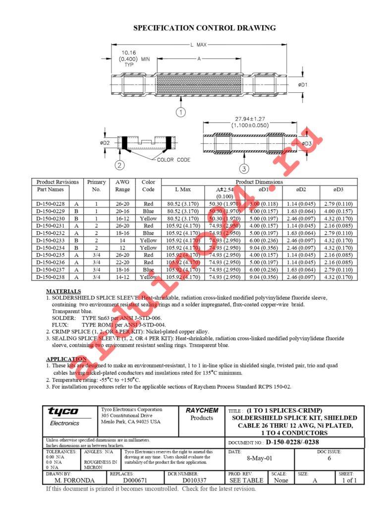 D-150-0228 datasheet