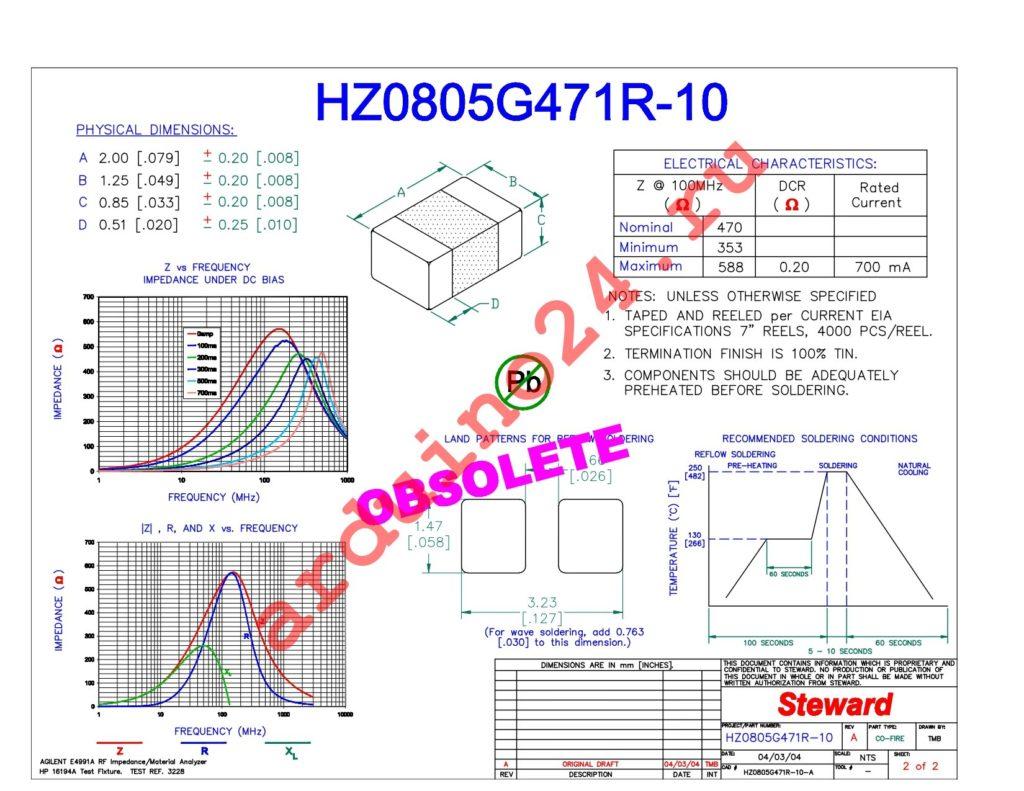 HZ0805G471R-10 datasheet
