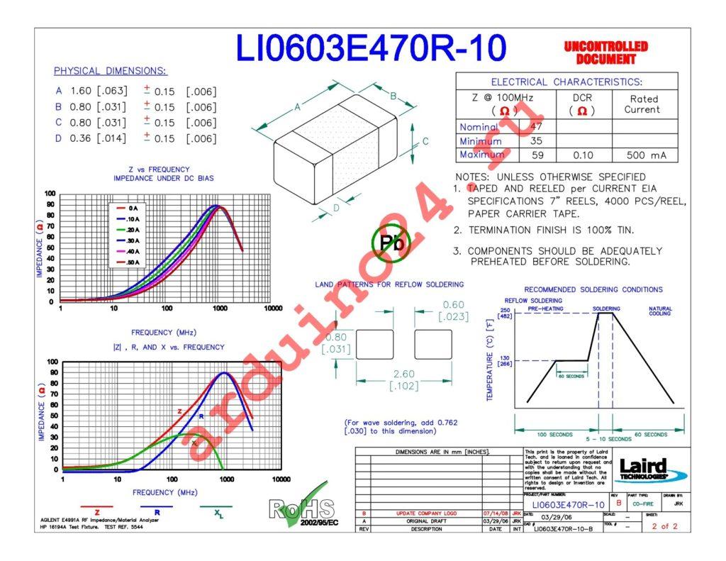 LI0603E470R-10 datasheet