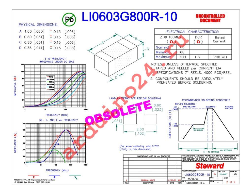 LI0603G800R-10 datasheet
