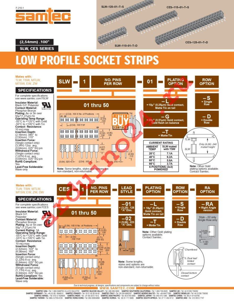 SLW-149-01-S-S datasheet