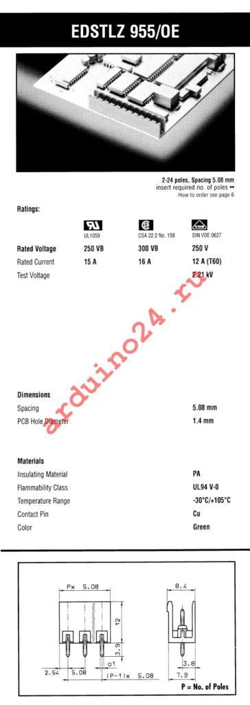 EDSTLZ955/10-OE datasheet