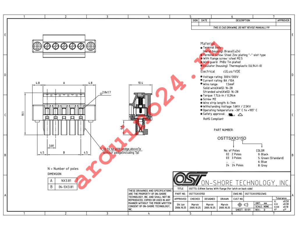 OSTTS06315D datasheet